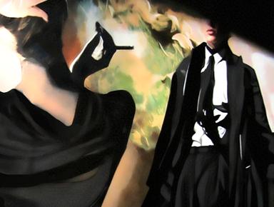 film noir retro decor paintings