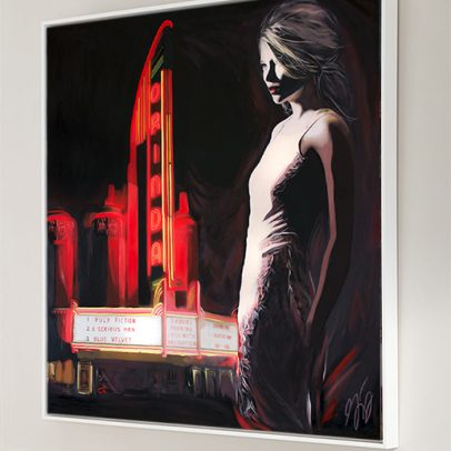 Orinda Theater Hand Film Noir Art Print American Noir Paintings