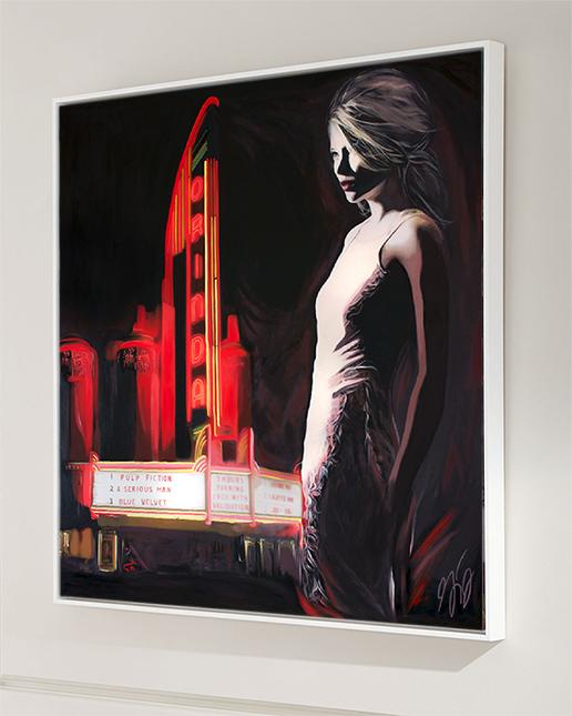 Orinda Theater Hand Film Noir Art Print American Noir Paintings