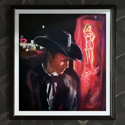 El Paseo Art Galleries - Vintage Las Vegas - Hollywood - American Noir Paintings