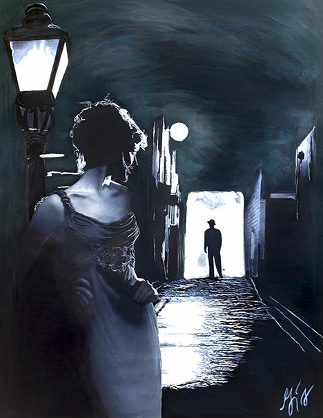 Insomnia Film Noir - American Noir Paintings Art