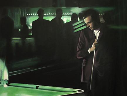Night Club Pool Painting Art