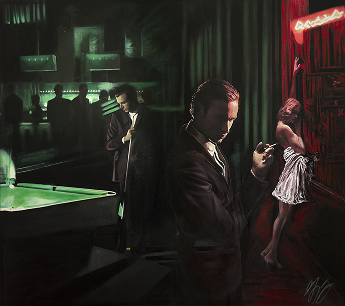 Last In Line Double R Nightclub American Noir Paintings