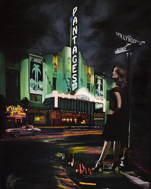 Pantages Theatre Frolic Hollywood American Noir Paintings